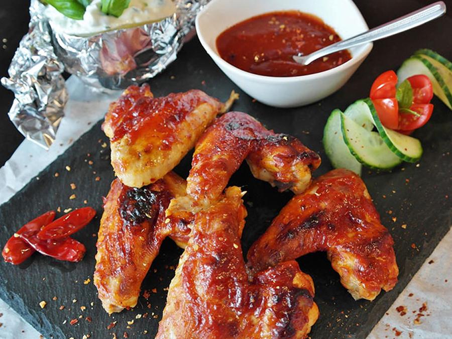 Accesorios para asadores de pollos
